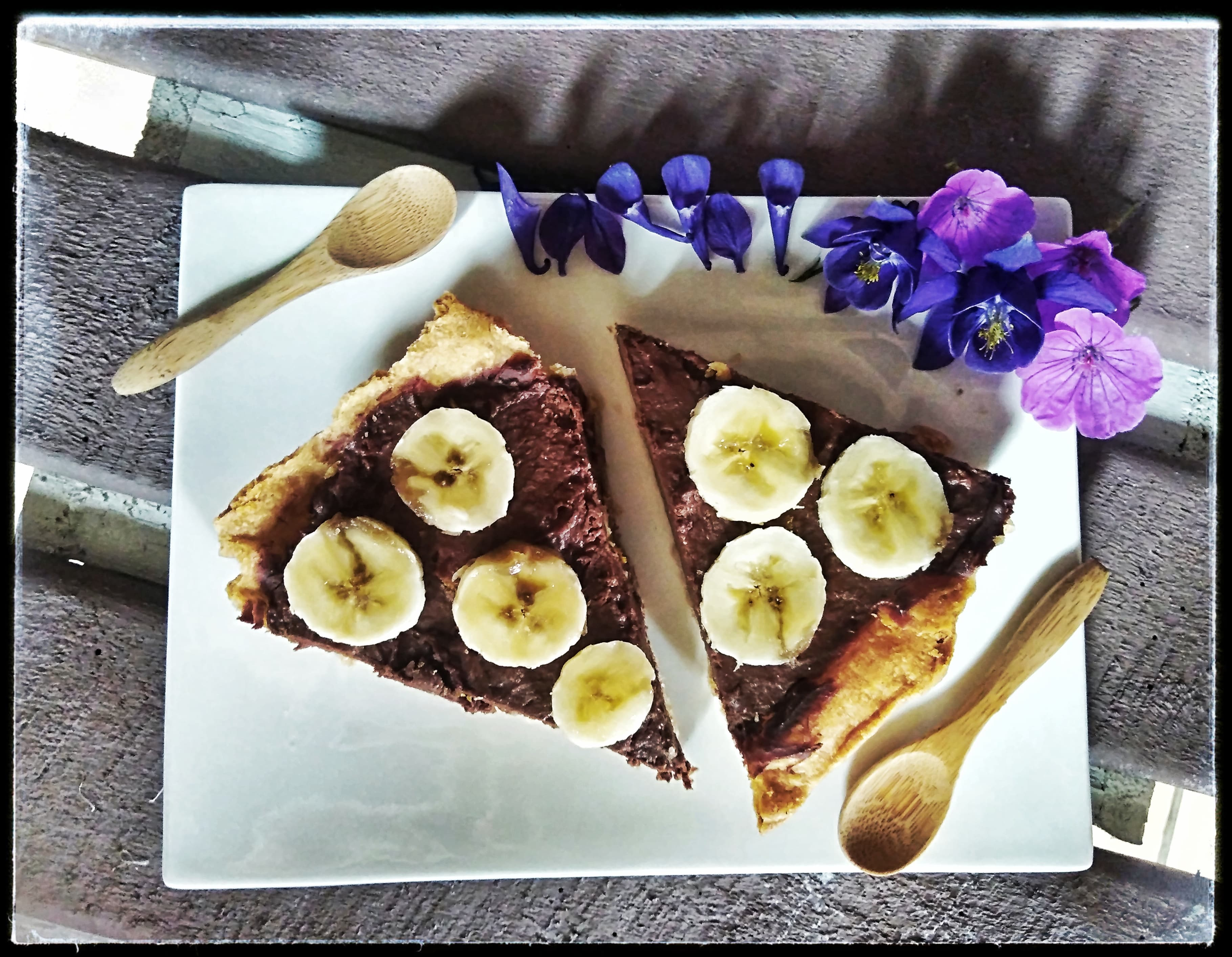 Tarte velours chocolat banane